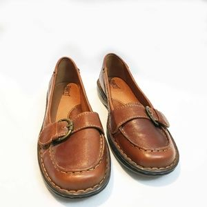 UNISEX Brown leather Born Slip On Shoes